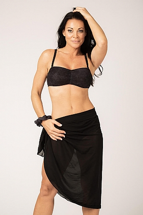 Sarong in black pattern for women from Sunkini.com