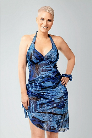 Sarong in blue pattern for women from Sunkini.com