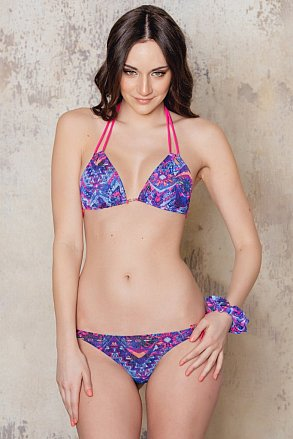 Purple patterned tan through bikini from Sunkini