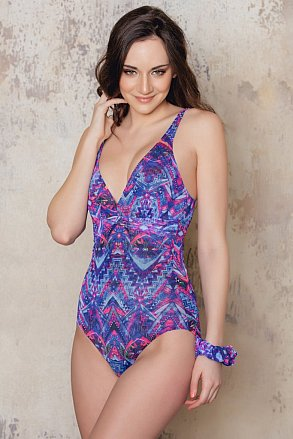 Purple patterned swimsuit from Sunkini
