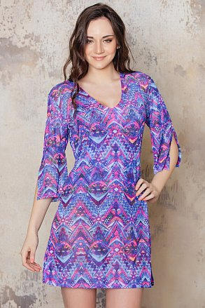 Purple patterned tunic from Sunkini