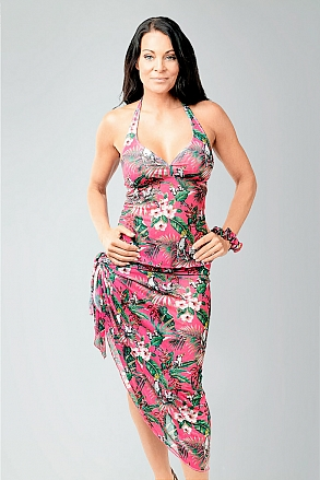 Bikinis and beachwear in pink pattern for women from Sunkini.com