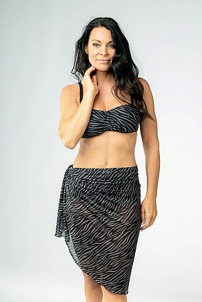 Sarong in zebra pattern for women from Sunkini.com