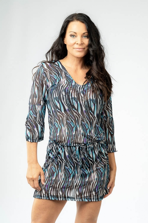 Beach tunic in zebra pattern for women from Sunkini.com
