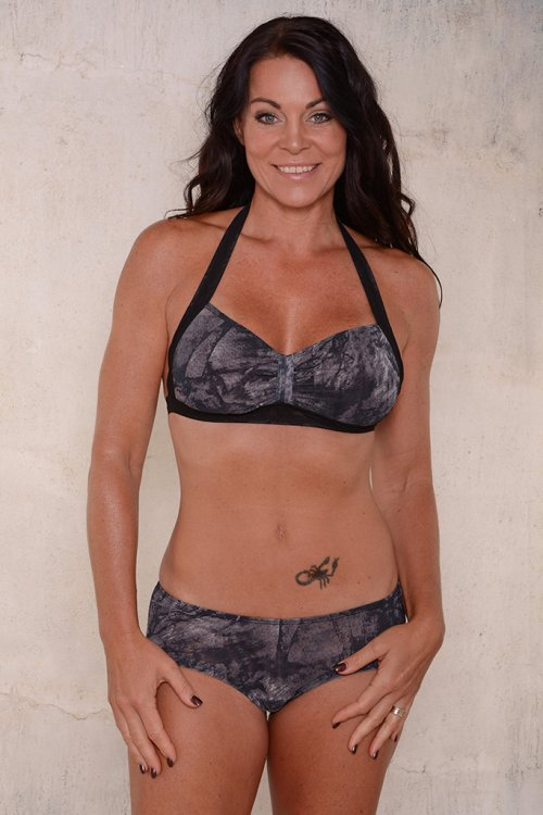 Black pattern bikini for ladies from Sunkini.