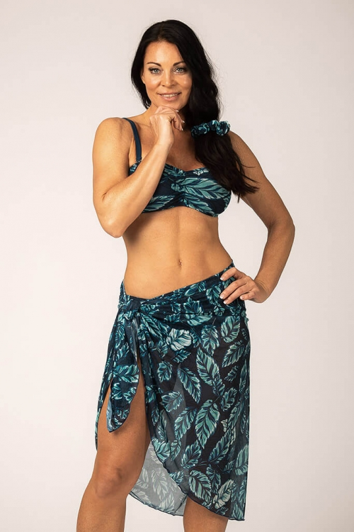 Sarong in pattern with leaves for women from Sunkini.com