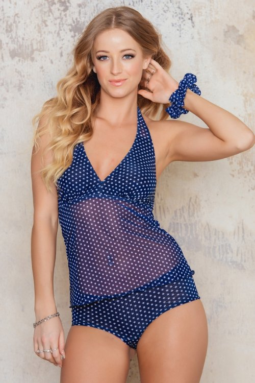 Navy Star - Tankini