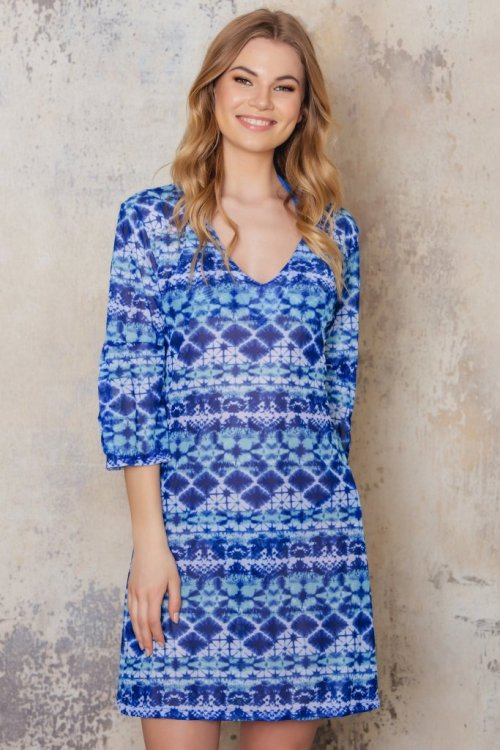 Blue patterned tunic from Sunkini