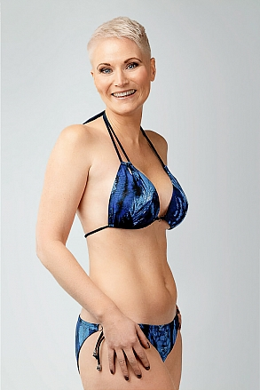 Bikini in blue pattern for women from Sunkini.com