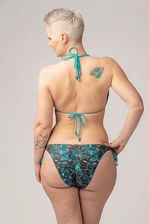 Bikini bottom with knots in pattern with butterflies for women from Sunkini.com