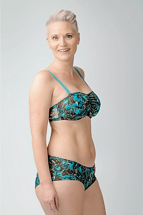 Bikini top with push and removable shoulder straps in pattern with butterflies for women from Sunkini.com