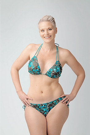 Bikini top in triangular model in pattern with butterflies for women from Sunkini.com