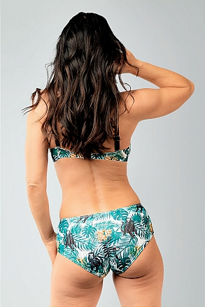 Bikini top with push and removable shoulder straps in pattern with monkeys for women from Sunkini.com
