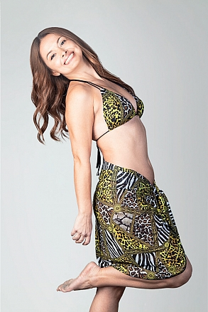 Sarong in animal fur pattern for women from Sunkini.com