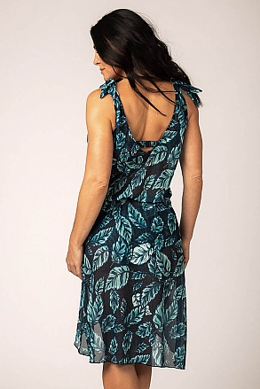 Beach dress in pattern with leaves for women from Sunkini.com