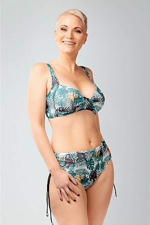 Bikini bottom with high waist in pattern with monkeys for women from Sunkini.com