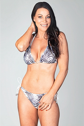 Bikini set in black and white pattern for women from Sunkini.com