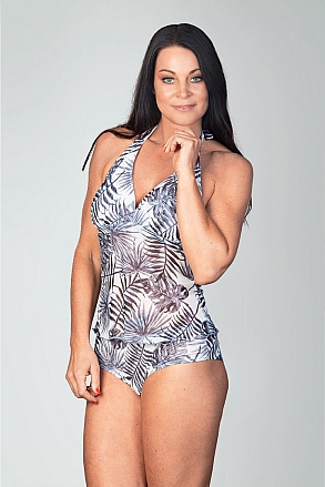 Tankini tank top in black and white pattern for women from Sunkini.com
