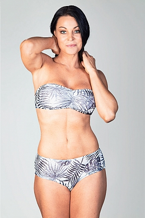 Bikini top with push and removable shoulder straps in black and white pattern for women from Sunkini.com