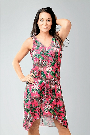 Beach dress in pink pattern for women from Sunkini.com