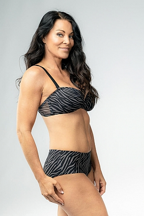 Bikini top with push and removable shoulder straps in zebra pattern for women from Sunkini.com