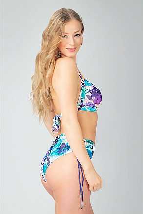 Bikini in turquoise purple pattern for women from Sunkini.com