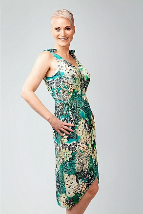 Beach dress in tropical pattern for women from Sunkini.com