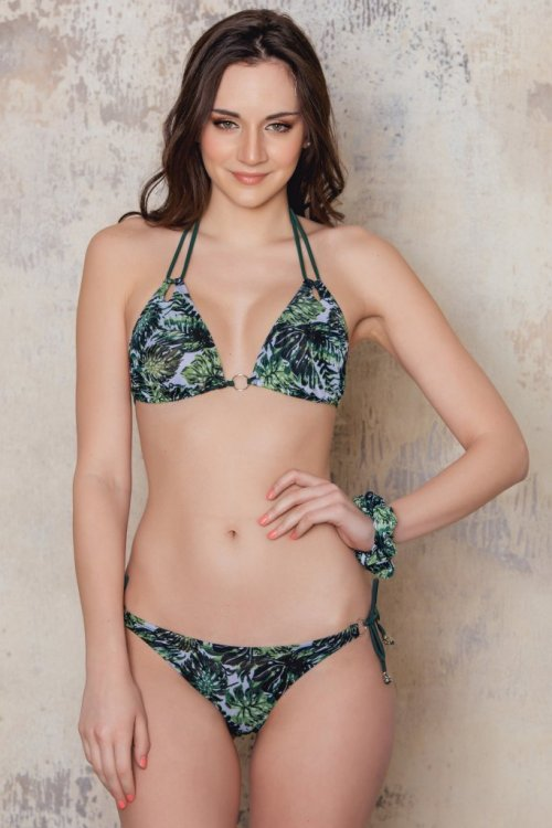 Palm patterned triangular top from Sunkini